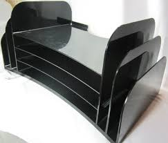 Home Office Desk Organizer by Desk Organizer Black Plastic File Folder Bin Storage Home Office