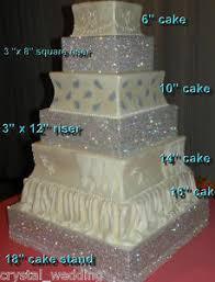 rhinestone cake real diamante rhinestone cake riser stand tier separators 3