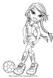 bratz coloring pages soccer football girls coloring