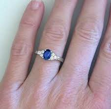 oval sapphire engagement rings sapphire rings in 14k white gold from myjewelrysource gr