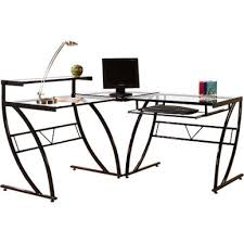 Corner Computer Desk Atrium Metal And Glass L Shaped Computer Desk Multiple Colors For