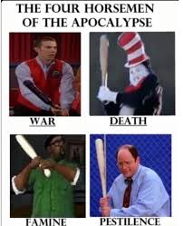 Cat In The Hat Meme - four horsemen of the apocalypse cat in the hat know your meme