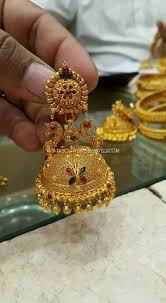 gold earrings for marriage gold jhumka designs with weight and price jewellery