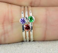 stackable birthstone ring stackable birthstone rings stackable gemstone rings birthstone