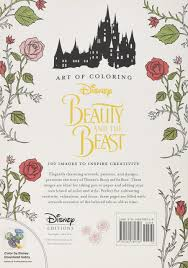 Color By Disney Amazon Com Art Of Coloring Beauty And The Beast 100 Images To
