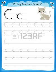 writing practice letter k printable worksheet with clip art