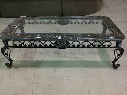 coffee table giacometti style wrought iron and glass coffee table