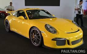 porsche 991 gt3 price porsche 911 gt3 launched in malaysia rm1 23 mil