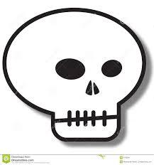 Halloween Skeleton Clip Art Simple Skull Clipart Collection