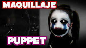 puppet five nights at freddy u0027s fnaf maquillaje para halloween