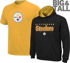 pittsburgh steeler big tall plus size tee sweatshirt jersey