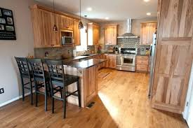 what paint color goes best with hickory cabinets hickory cabinets with white trim hickory cabinets