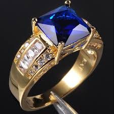 tanzanite blue rings images Exclusive men 39 s blue tanzanite crystal gemstone 10kt yellow gold jpg