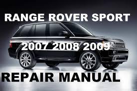 range rover sport 2007 2008 2009 repair manual youtube