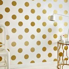 graham u0026 brown white and gold dotty removable wallpaper 100105