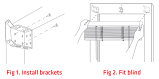 Replacement Brackets For Roller Blinds How To Install Your Diy Venetian Blinds Zone Interiors