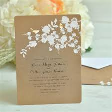 Single Card Wedding Invitations Gartner Studios Foil Birds On Kraft Invitation