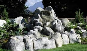 fake landscaping rocks boulders interesting design ideas of using
