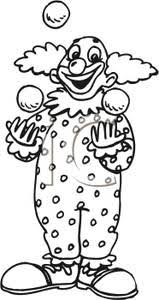 clowns juggling balls and white clown juggling balls royalty free clipart picture