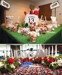 baseball wedding table decorations home run baseball bar mitzvah hostess with the mostess