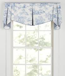 Pleated Valance Lenoxdale Toile Lined Ascot Pleated Valance Country Curtains