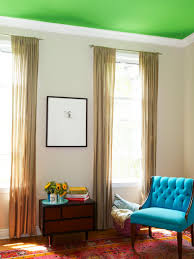 Modern Living Room Roof Design Paint A Bold Color On Your Ceiling Hgtv