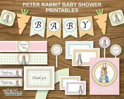 instant download baby shower invitations peter rabbit baby shower diy printable party package digital