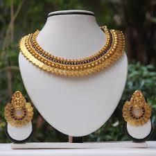 necklace set blue stone images Purchase blue stone laxmi temple coin gold necklace set 504377 jpg