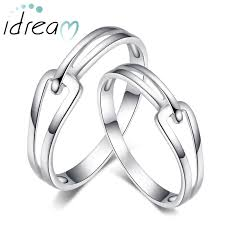 his and wedding rings interlocking promise rings set for women and men simple