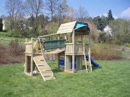 speeltoren jungle gym barn bridge module tuin ideeën