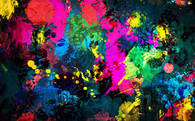 Color Painting by Paint Spray Blot Texture Background Abstraction Photo