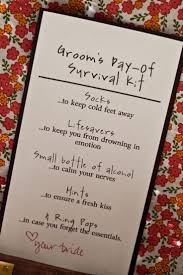 poem from bride to groom on wedding day best 25 groom survival kits ideas on pinterest groom gifts