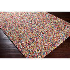 Multi Color Rug 19 10x14 Rugs Hand Woven Multi Colored Burgundy Angelfish