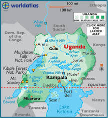geographical map of kenya uganda map geography of uganda map of uganda worldatlas
