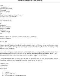 outreach worker cover letter community outreach worker cover