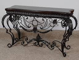 Wrought Iron Console Table Sofa Table Design Wrought Iron Astonishing Bohemian In Console