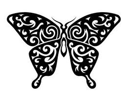black and white butterfly tattoo cool tattoos designs clip art