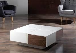 modern coffee table square contemporary tables regarding designs 18