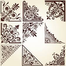 vintage pattern area borders and ornaments vector 01 vector