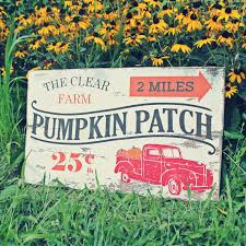 family farm pumpkin patch sign farmhouse fall decor autumn