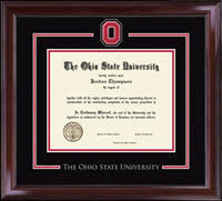 the ohio state spirit medallion diploma frame in encore