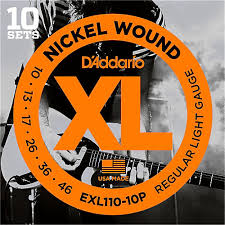 light electric guitar strings d addario exl110 nickel light electric guitar strings 10 pack