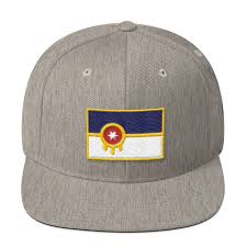 White Flag Tulsa Tulsa Flag Hat Wool Blend Snapback U2013 Howdy Design Co