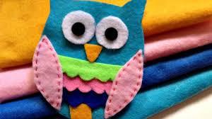 how to make a adhesive felt owl applique diy crafts
