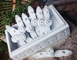 distressed shabby chic white cabinet hardware knobs