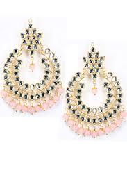 chandbali earrings online pink pitch indian jewellery designer earrings online