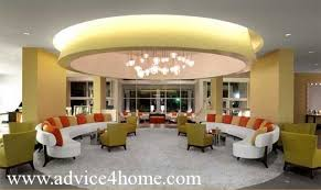Yellow Pop Ceiling Design In Living Room - Living room pop ceiling designs