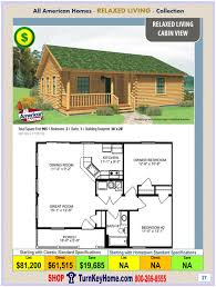cabin view all american modular home relaxed living collection