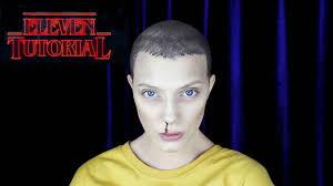 bald cap spirit halloween eleven stranger things makeup tutorial youtube