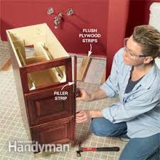 Installing A Vanity Top Install A Vanity Sink Family Handyman